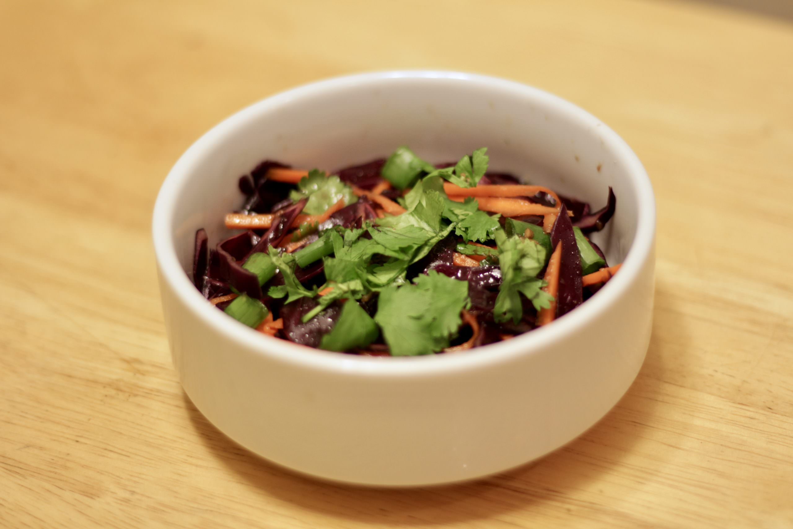 Easy Asian Slaw with Red Cabbage and Carrot