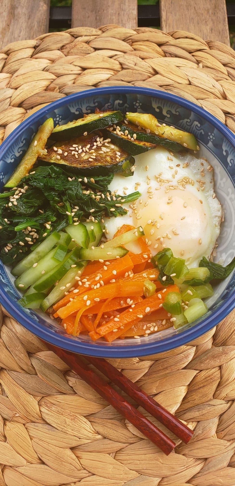 Vegetarian Bibimbap with Gochujang Sauce