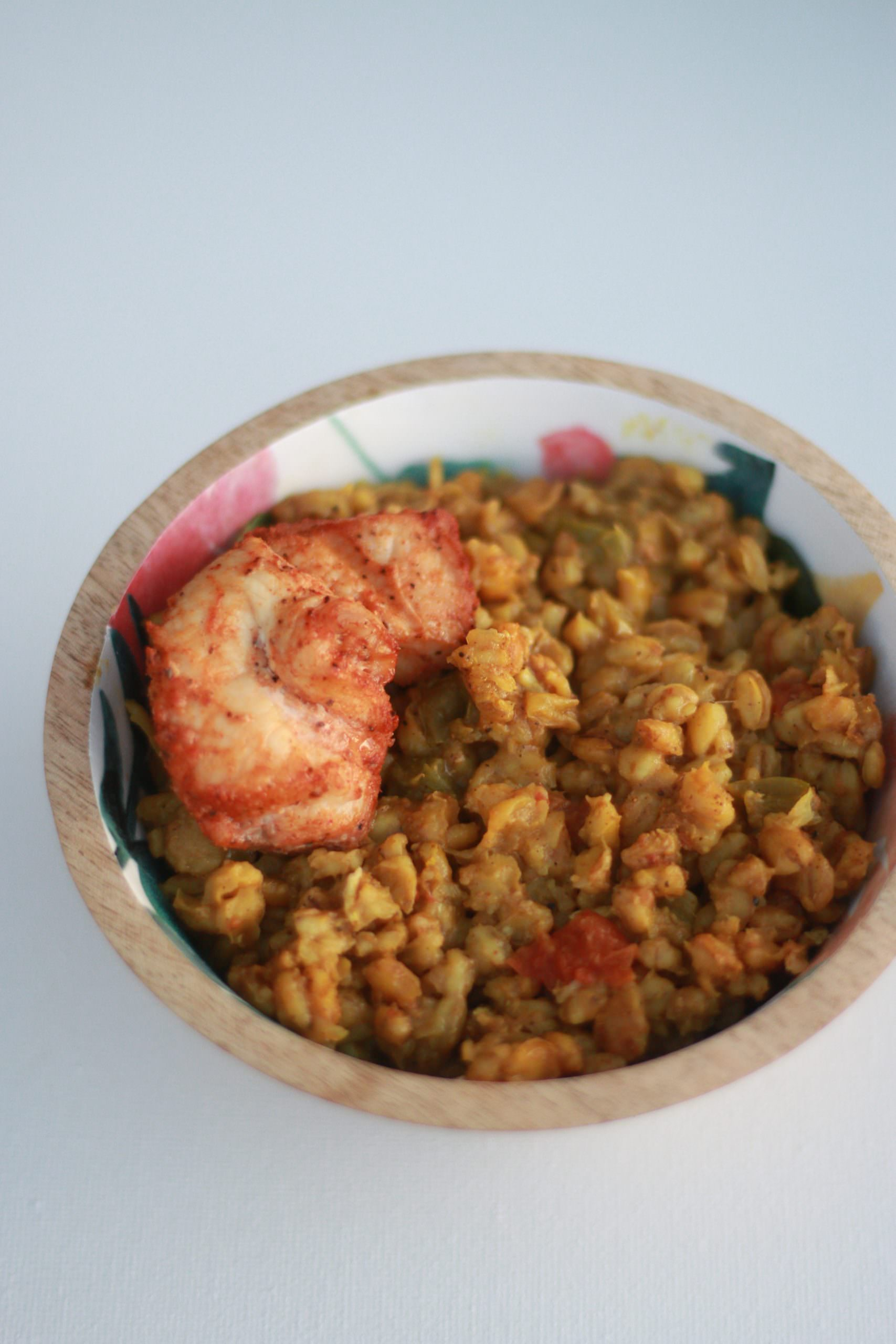 Baked Curry Chicken & Barley