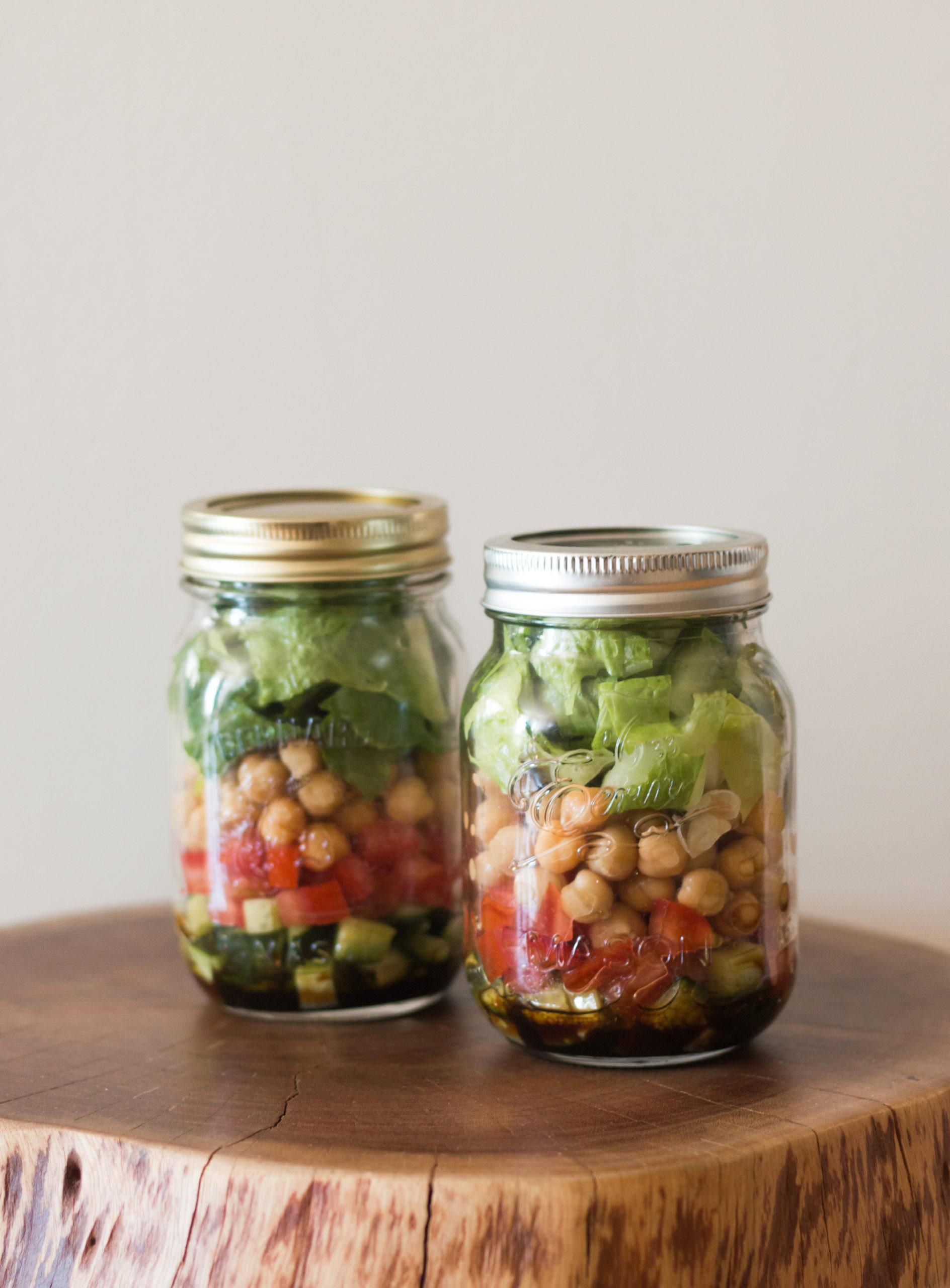 Mason Jar Chickpea Salad