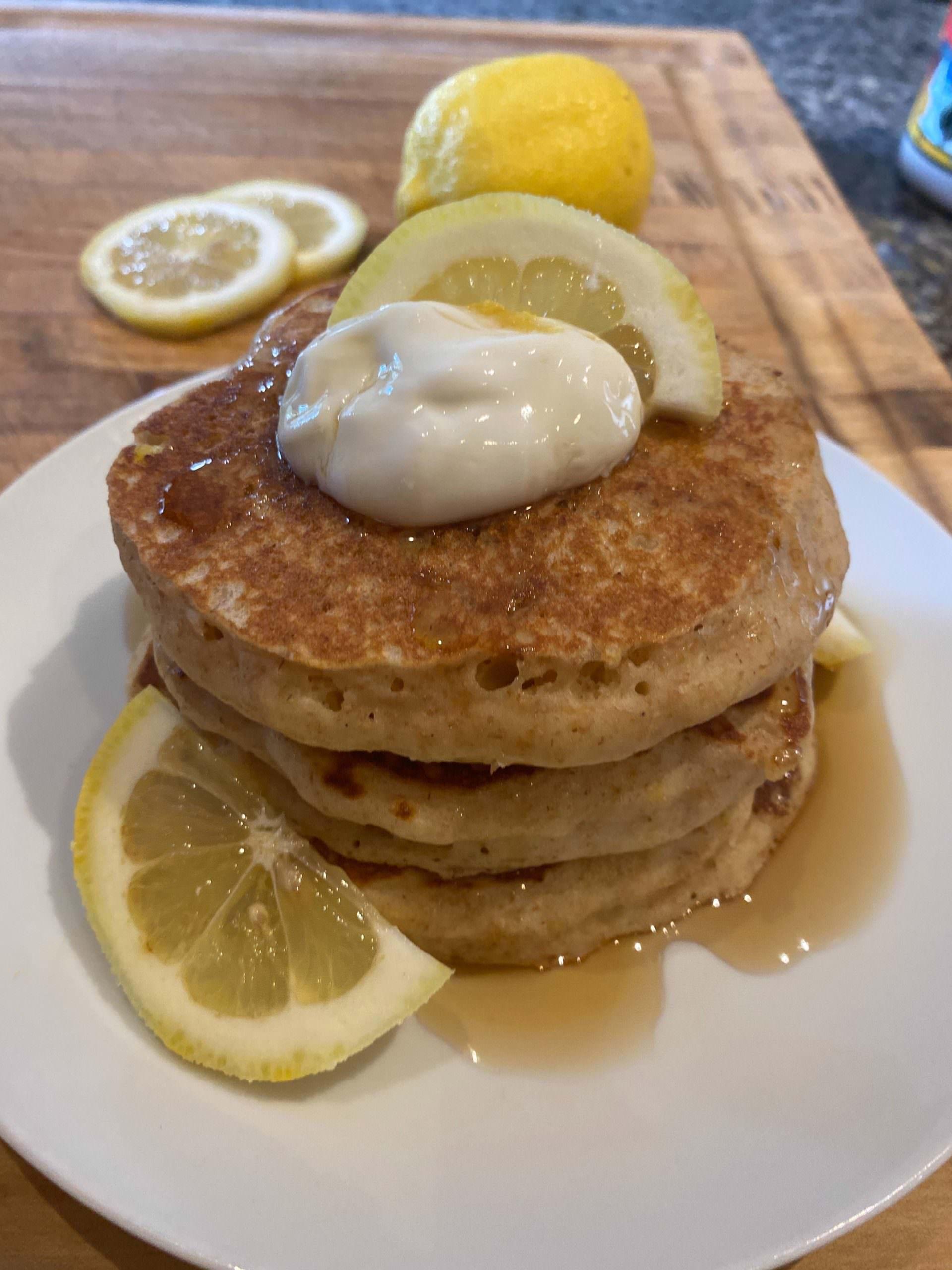 Lemon Greek Yogurt Pancakes