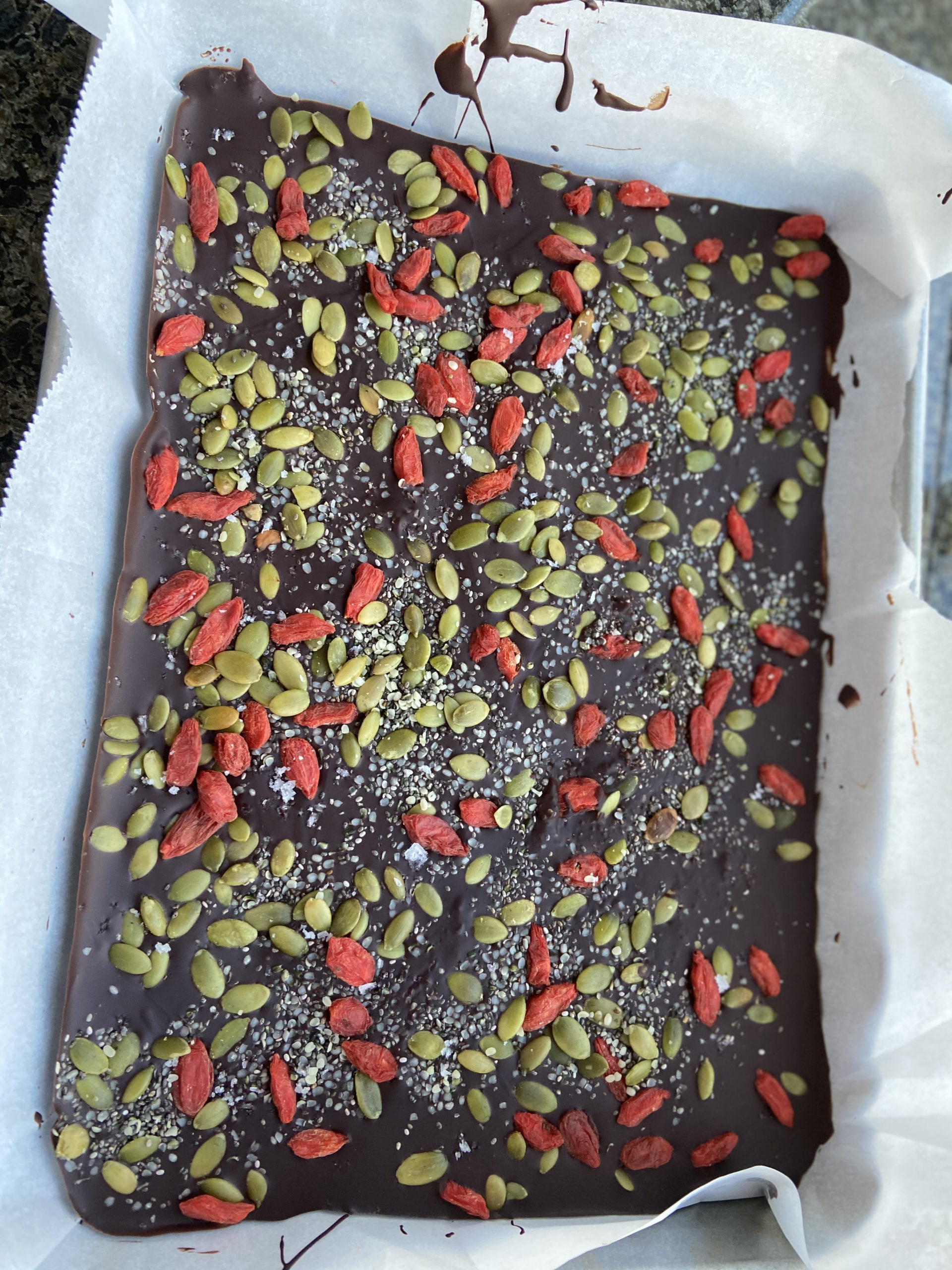 Dark Chocolate Goji Berry Bark